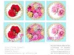 Kaart Love roses